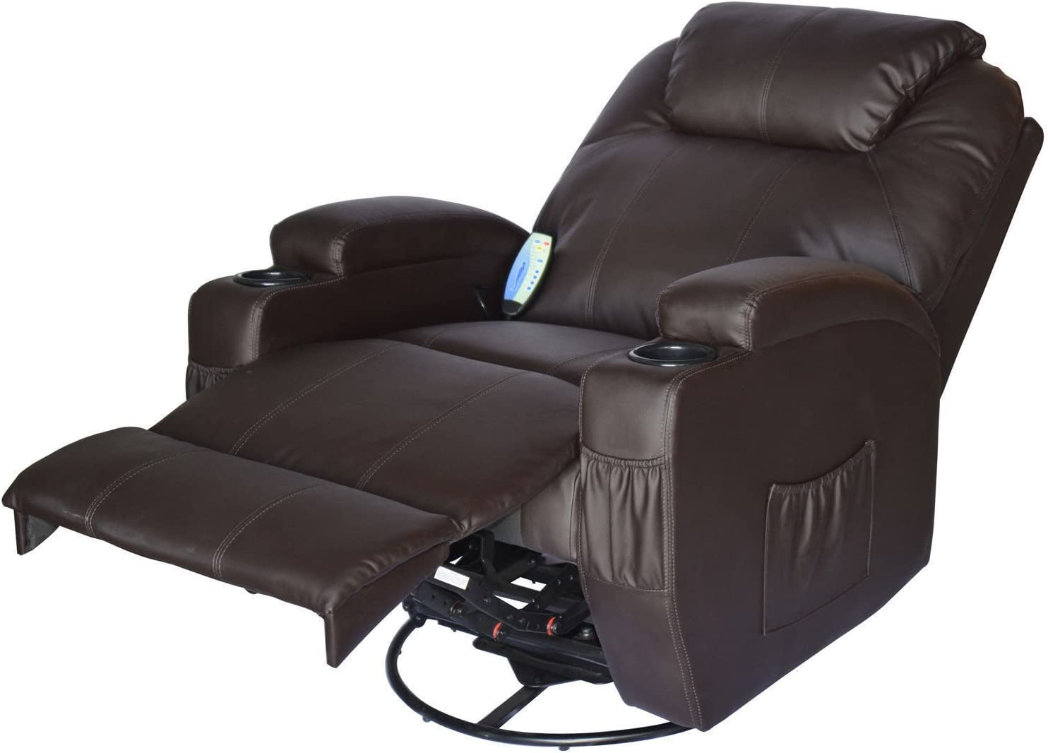 Homcom PU Leather Padded Recliner reclined