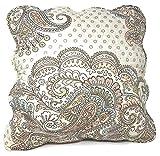 Tache 2 Piece 100% Cotton French Golden Garden Cushion Cover 18x18