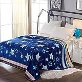HOLY HOME Flannel Fleece Throw Blanket Velvet Plush Bedclothes 80''x90'' Star Tree