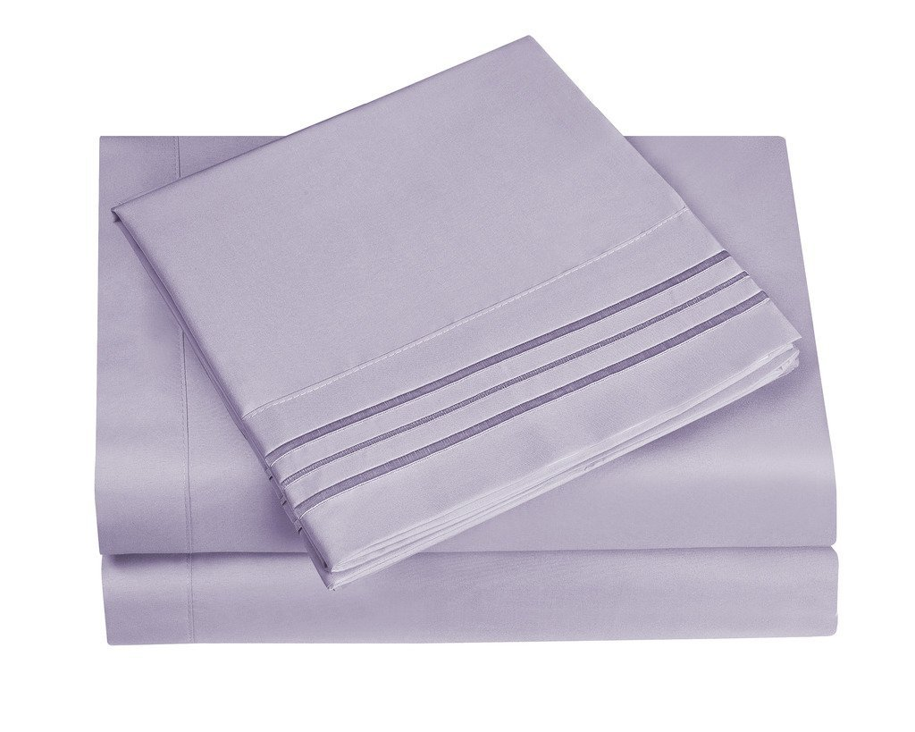 HC Collection Bed Sheet Cal King, Lavender