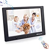 Powerextra 10 Inch 16:9 Digital Photo Frame 1080P HD Display with Motion Sensor and Multiple Functions for Clock…