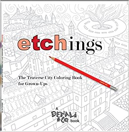etchings the traverse city coloring book for grown ups - Coloring Book For Grown Ups