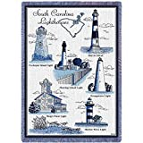 Lighthouses of South Carolina - 69 x 48 Blanket/Throw
