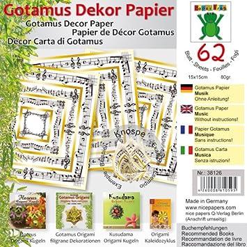 Origami Faltbl/ätter Gotamus Papier Noten