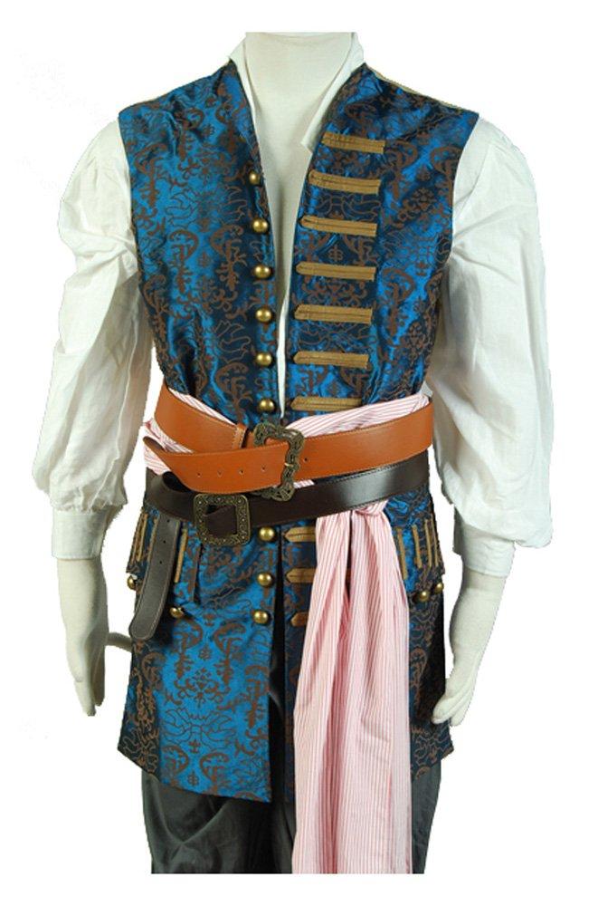 Pirates Of The Caribbean 4 Jack Sparrow Weste Cosplay Kostüm Herren XXXL B01MYRTTJ2 Kostüme für Erwachsene Einfach zu spielen, freies Leben    Treten Sie ein in die Welt der Spielzeuge und finden Sie eine Quelle des Glücks
