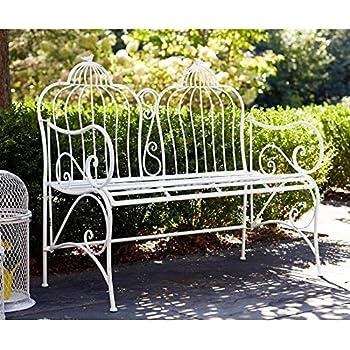 Amazoncom Oriental Furniture Rustic Metal Garden Bench