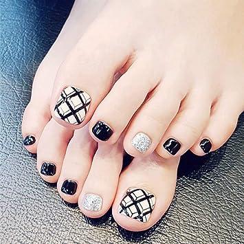 Amazon.com: Juego de 24 uñas postizas de uñas de uñas ...