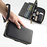 Gooder Multi Functional Wallet Case for IQOS 3.0 Protective Cigarette Case Cover Hand Bag for IQOS-Black