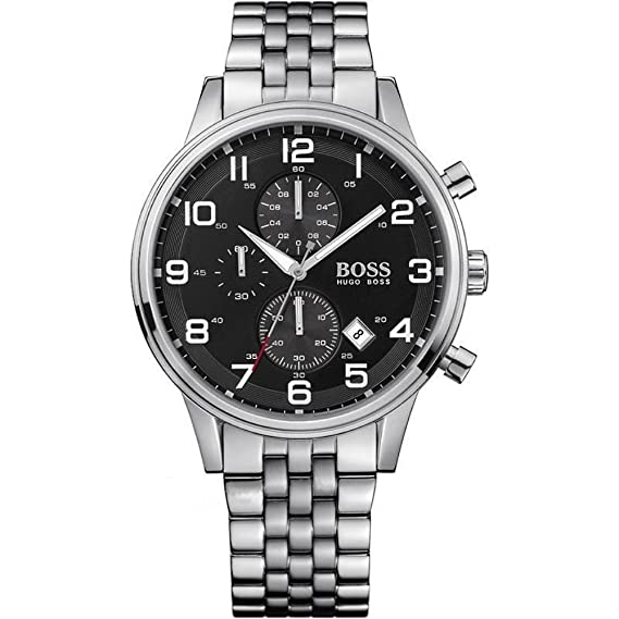 Hugo Boss 1512446 - Reloj analógico de caballero de cuarzo con correa plateada: Amazon.es: Relojes