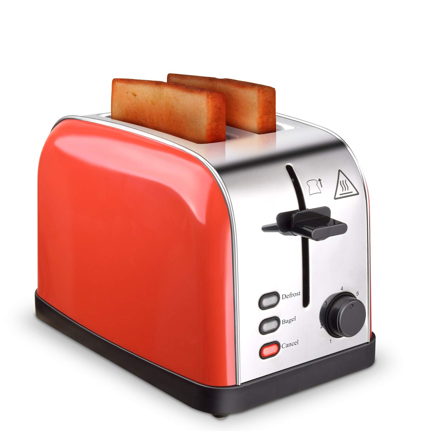 Toaster 2 Slice Toasters Best Rated Prime Extra Wide Slots Compact Stainless Steel with Defrost Reheat Cancel Button High Lift Lever Toaster's Removable Crumb Tray Quickly Toast for Bread&Bagel by Evening (Image #1)