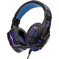 Houshome SY830MV Fones de ouvido para jogos de computador com fio Fone de ouvido para jogos com microfone AUX + porta…