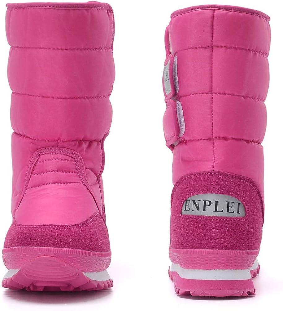 DADAWEN Womens Waterproof Frosty Snow Boot