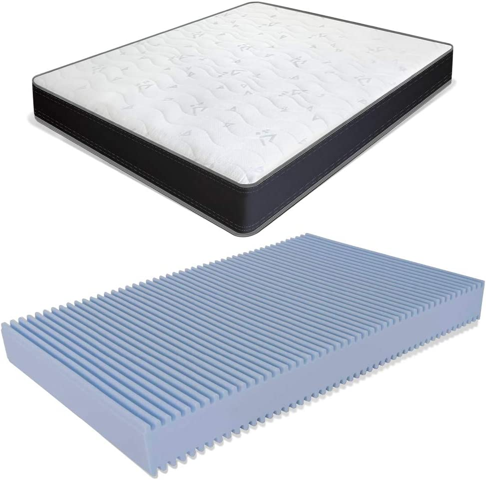 MiaSuite - Colchón estilo francés - Fabricado en espuma de poliuretano expandido Waterfoam - Ideal para sofá cama ortopédico - Modelo Summit - Medidas 140 x 190 x 13 cm