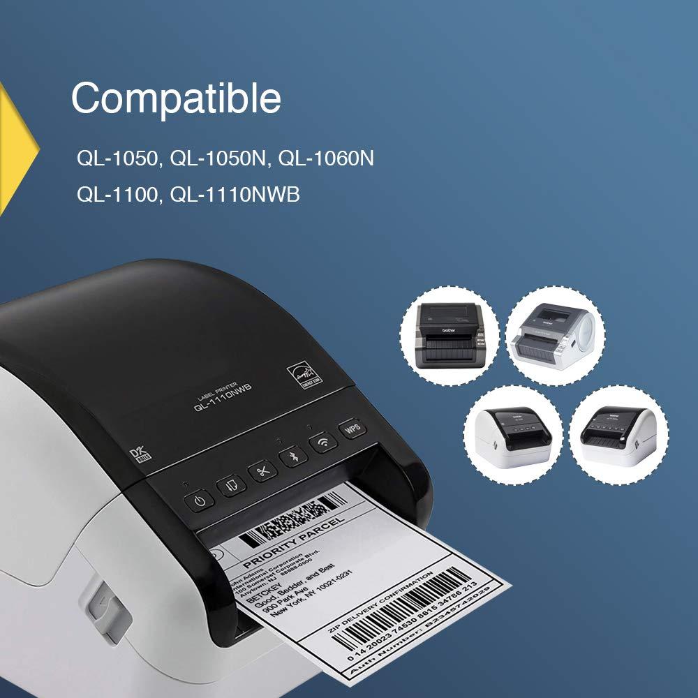 2 ROLLEN ETIKETTEN 102mm x 30.48m STANDARD für BROTHER P-touch QL-1050 N