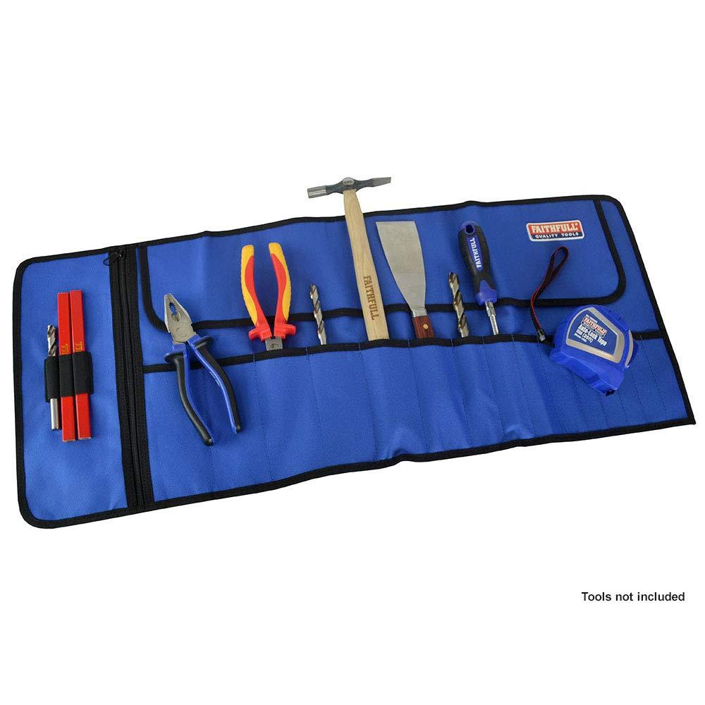 Estuche enrollable para herramientas con 15 bolsillos Faithfull
