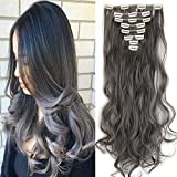 """Best S-noilite Full Hair Clip In Hair Extensions - 17""""24"""" Long Curly Wavy Clip in 8 Pieces Review"""