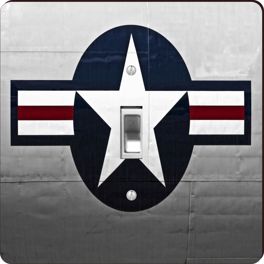 Rikki Knight RK-LSPS-8933 United States Air Force Logo Design Light Switch Plate Cover