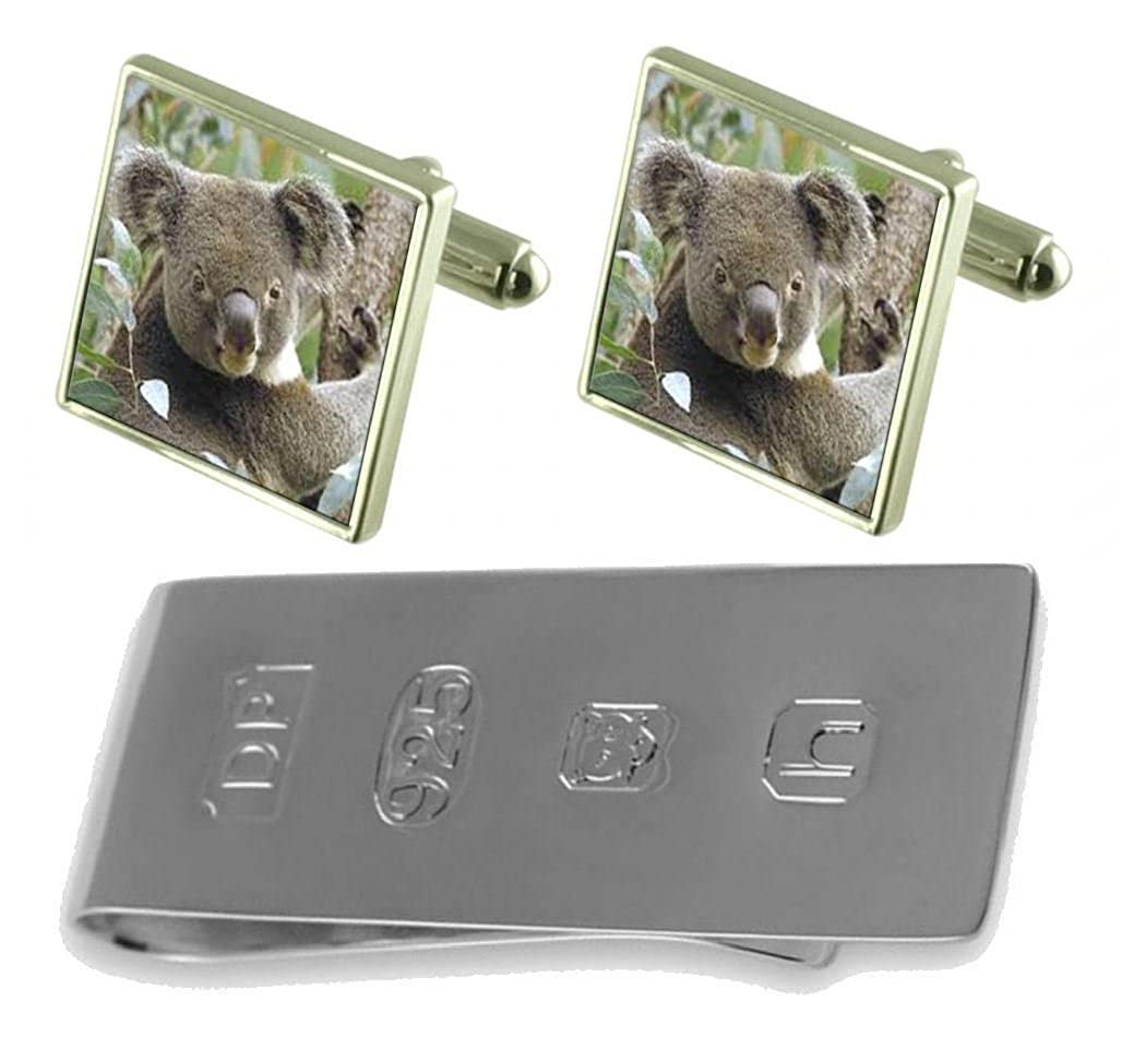 Select Gifts Koala Bear Cufflinks /& James Bond Money Clip