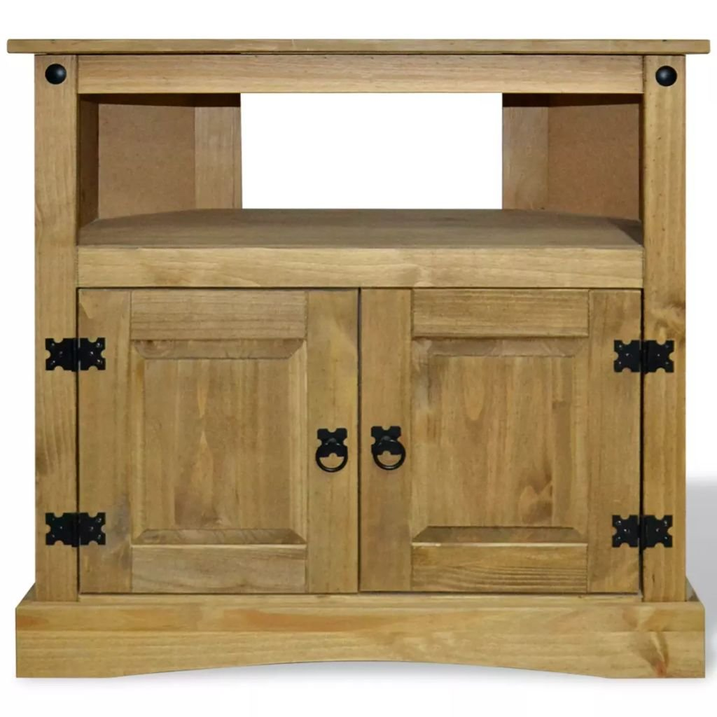 Festnight Wood Buffet Sideboard with Open Storage Compartment and Cabinet Wooden Side Console Table for Living Room Entryway Kitchen Home Furniture 31.5'' x 16.9'' x 30.7'' (L x W x H)