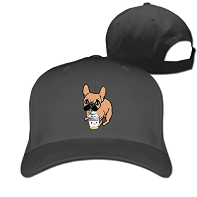 814cd020da4 Image Unavailable. Image not available for. Colour  CARAY Unisex Adult French  Bulldog Drunk Juice Baseball Cap Adjustable Snapback Hat