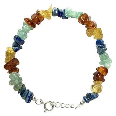 WCJ Chakra Healing Power Bracelet for THYROID :Natural Gemstones