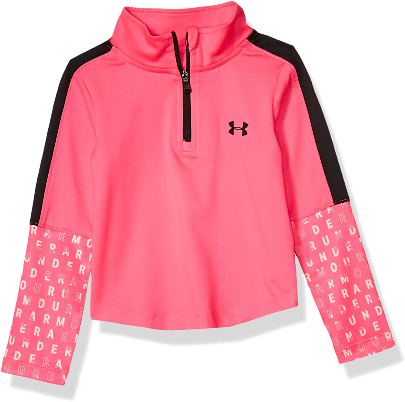 Under Armour Girls' 1/4 Zip Long Sleeve Pullover: Clothing