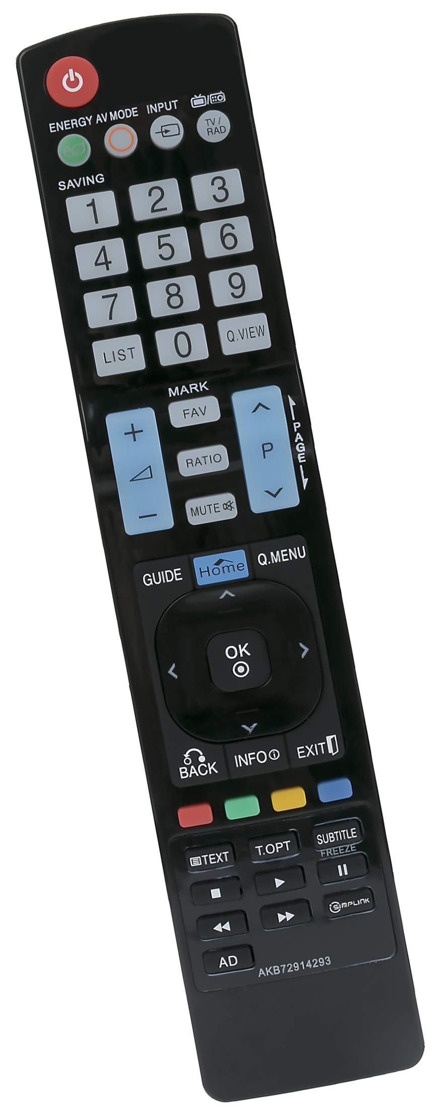 ALLIMITY AKB72914293 Remote Control Replace for LG Plasma TV AKB72915207 AKB72915244 AKB72914202 AKB72915246 AKB73275606 AKB72915217