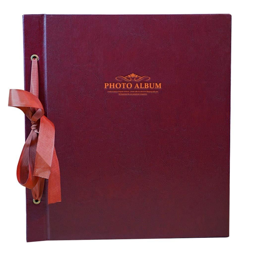 Large Capacity Interstitial Photo Album, Retro PU Memorial Album Holds Photos 6X4(4R) 12.6''X14''X2.6'' (Color : Coffee Color) by Photo Album Company
