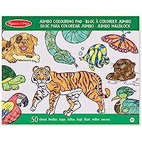 Melissa & Doug Bloc Extragrande de Colorear con Animales, Actividades Para Niños, Artes y Manualidades (50 Hojas, 27.94 cm x 35.56 cm)