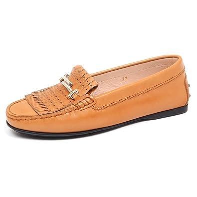 Donna Light 37 Mocassino F3288 Shoe Brown Loafer Woman Tod's Scarpe qwUcgC5UE
