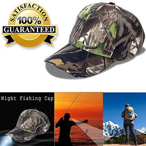 5 LED Light Camo Powercap Hat - Best Hands Free Solution - Camping - Hiking - Walking - Jogging - Plumbing - Auto Mechanics - High Beam Lights,Hands-Free Flashlight