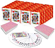 Gamie Mini Playing Cards - Pack of 20 Decks - Poker Cards - Miniature 1.5 Inch Card Set - Small Casino Game Ca