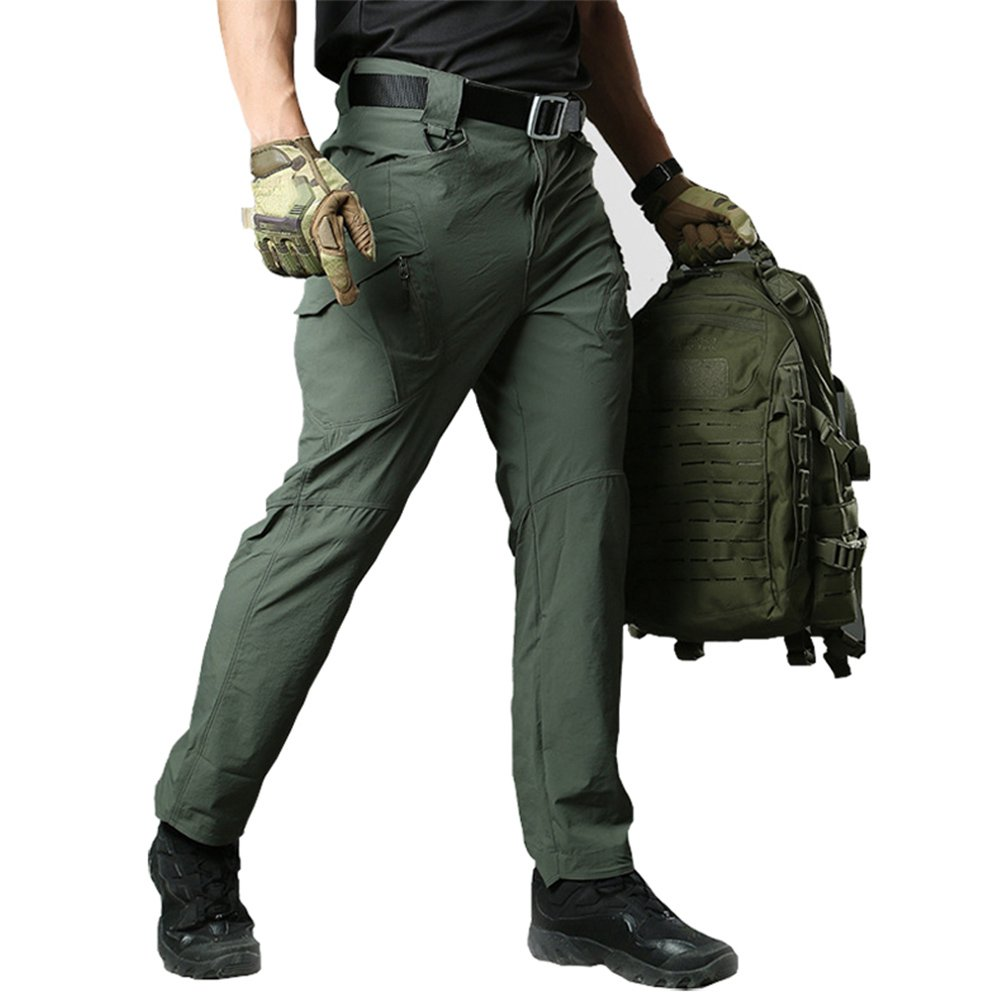 TACVASEN Mens Outdoor Breathable Quick Drying Lightweight Cargo Ripstop Hiking Pants