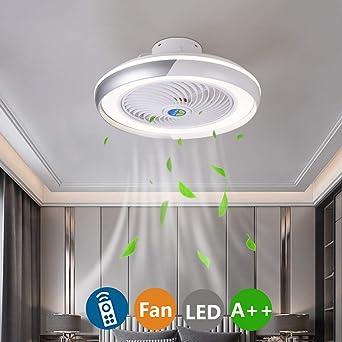 LED Moderno Lámpara de Techo Ventiladores de techo con lámpara y ...