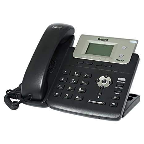 Yealink T21P E2 IP Phone, 2 Lines  2 3-Inch Graphical Display  Dual-port  10/100 Ethernet, 802 3af PoE, Power Adapter Not Included (SIP-T21P E2)