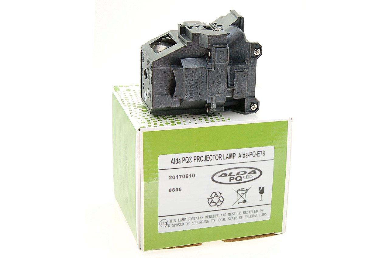 Ersatzlampe f/ür EPSON EB-X24 Projektoren Lampe mit Geh/äuse Alda PQ-Premium Beamerlampe