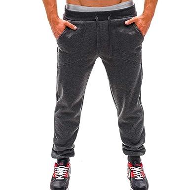 🌾🌾Amlaiworld Herren lang locker Sport Hosen Elastische Dünne Mode Yoga  Hosen Retro Haremshosen Gemütlich 121c9f1052