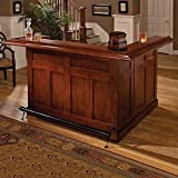 Cheap Hillsdale Furniture 62578AXCHE Classic 78″ Large Bar with 12 Wine Bottle Storage Side Bar Foot Rest China Oak and Wood Veneer MDF Construction in Cherry
