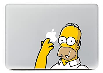 Top Homer Simpson Laptop Skin adhesivo de vinilo adhesivo para Apple Macbook Pro Homer Simpson pulgada Color para Macbook piel del ordenador portátil: ...