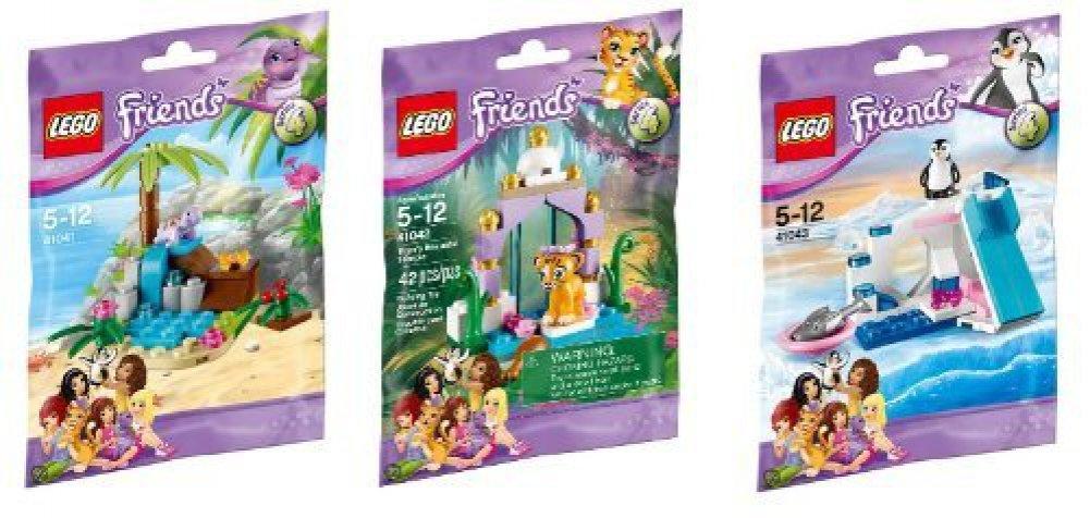 LEGO Friends Series 4 Animal Set: Tiger, Penguin U0026 Turtle: Amazon.co.uk:  Toys U0026 Games
