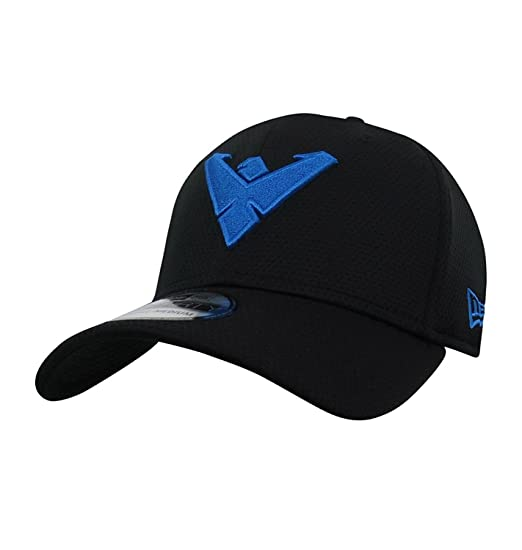 Nightwing Logo 39Thirty Black New Era Fitted Cap at Amazon Men s ... 4af4eb354c80
