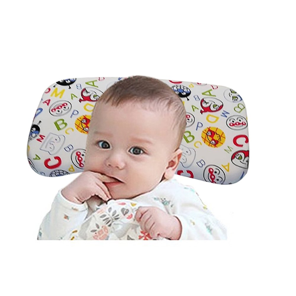V-No Baby Pillow for Newborn Prevent Flat Head,Soft Memory Foam Protective Toddler Pillow Support Neck,Anti Roll Sleep Safe for Infant in Crib,Bed and Chair
