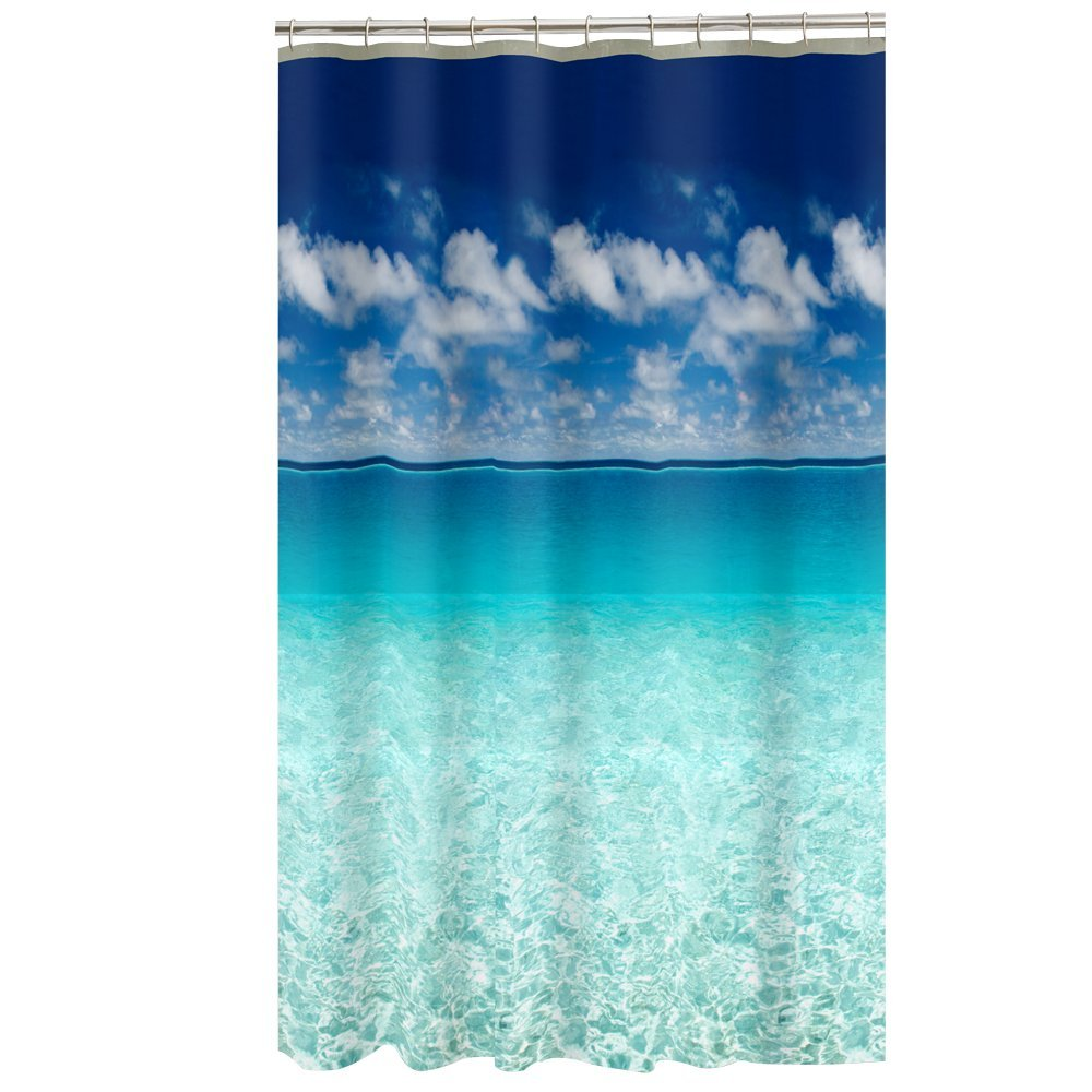 Amazon.com: Maytex Photoreal Escape Waterproof PEVA Shower Curtain ...
