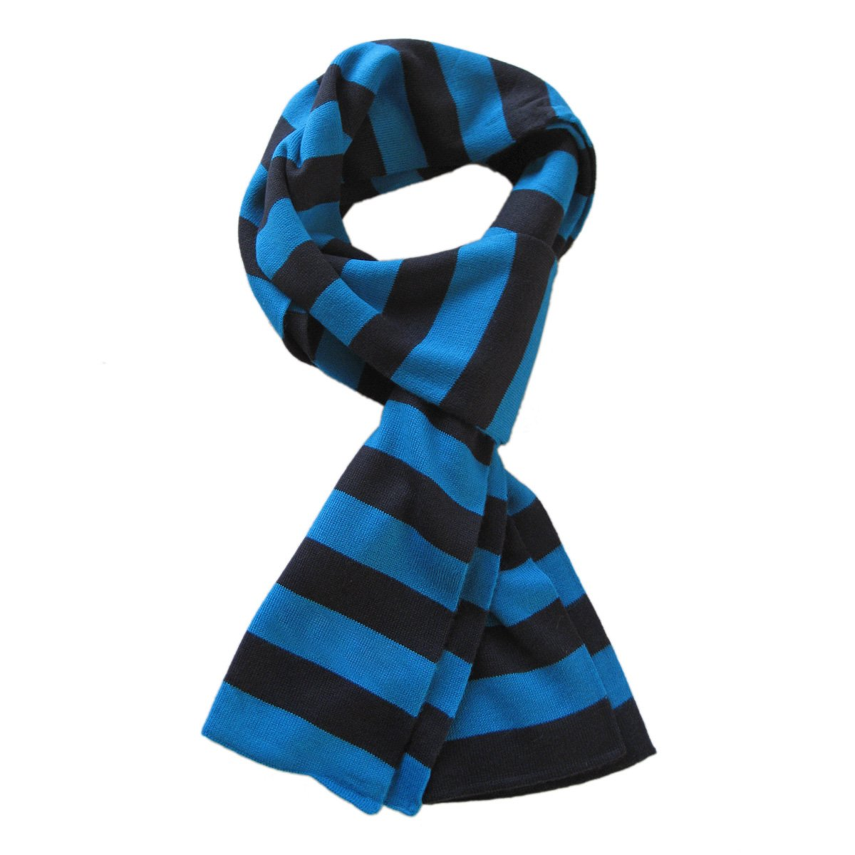 Premium Soft Knit Striped Scarf - Different Colors Available (Blue & Black)