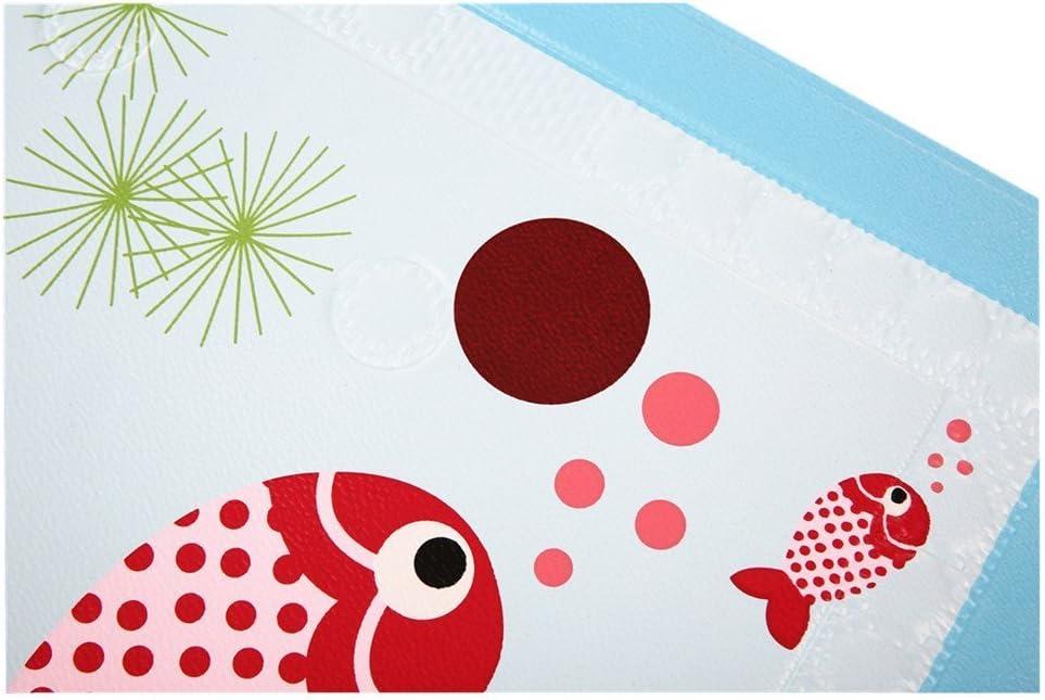 40x70CM Pesce/_Rosso BBCare Tappetino antiscivolo da bagnetto per pambino con indicatore termico