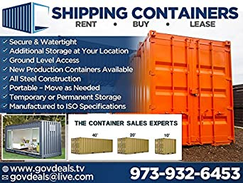 40FT High Cube USED Shipping Container Amazoncom Industrial