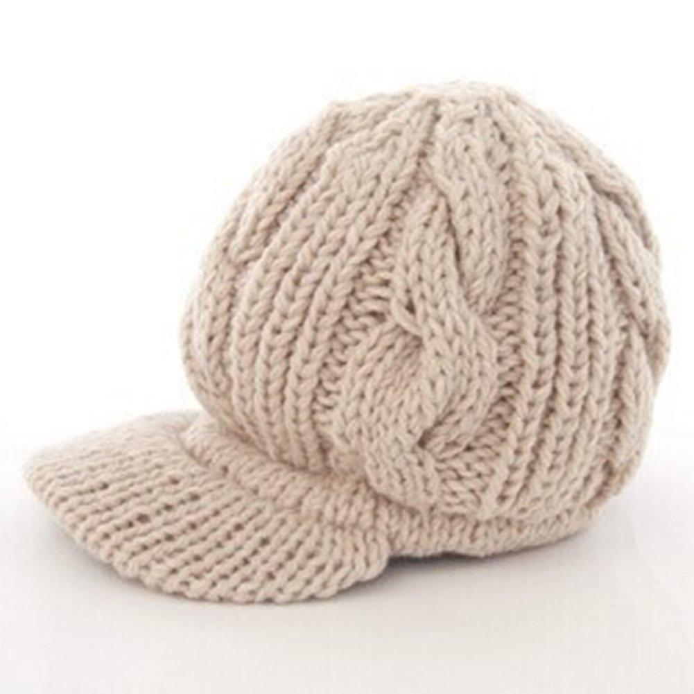 Chickwin Crochet Invierno Sombrero de Lana Tejer Beanie Warm Caps ...