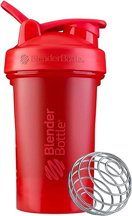 BlenderBottle Classic V2 Shaker Bottle, 20-Ounce, Red