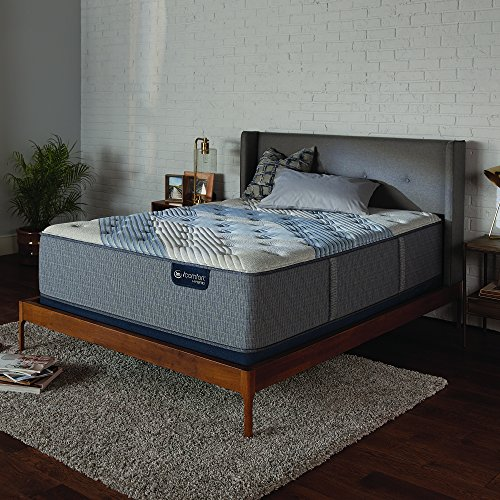 "Serta Icomfort 500822051-1060 Icomfort Hybrid 14"" Blue Fusion 1000 Luxury Firm Bed Mattress Conventional, King, Gray"