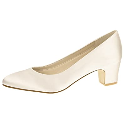 Rainbow Club Brautschuhe Stephanie - Ivory Satin - Pumps Damen Gr. 36 (UK 3 309c822095